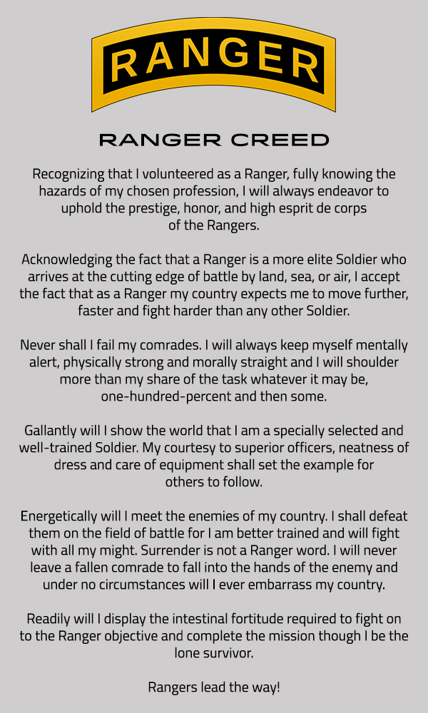 Rangers Creed