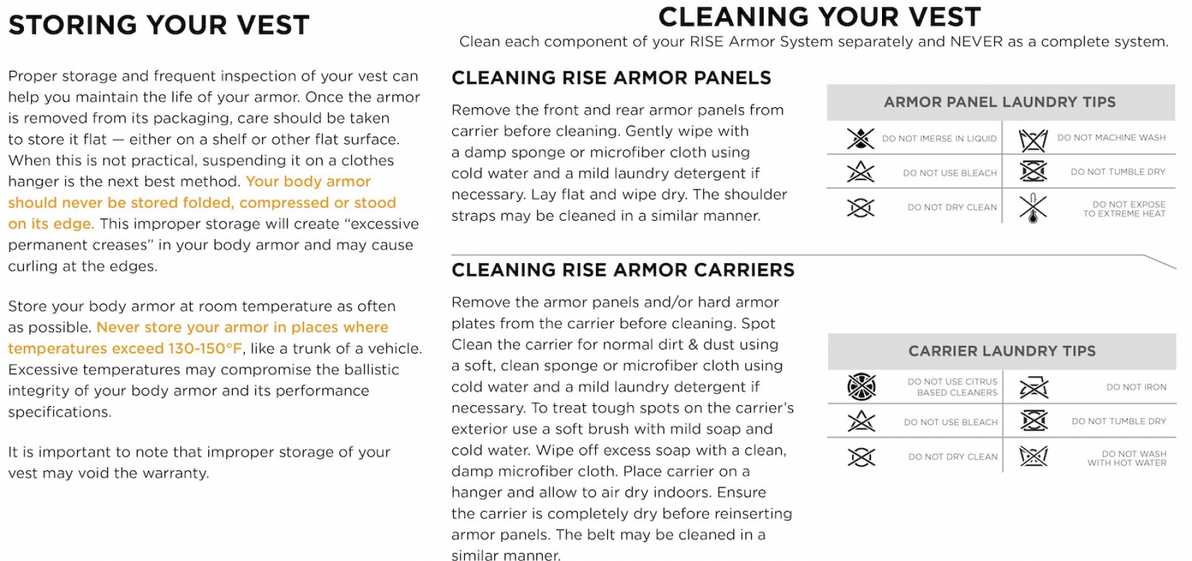 Use and Care Guides